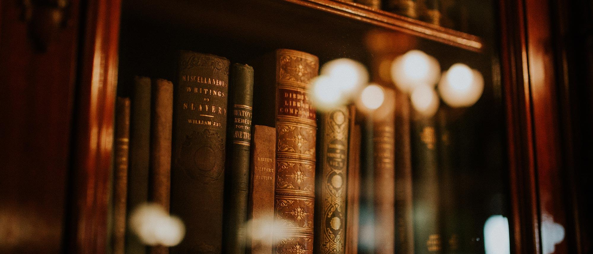 library of books on shelves